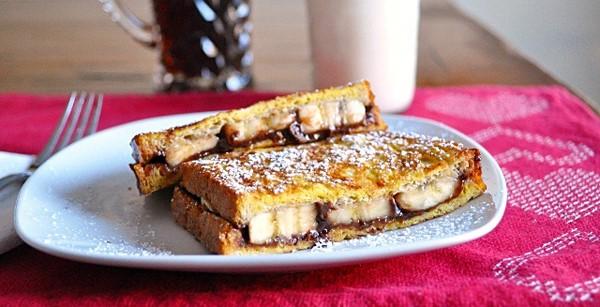 Skinny Nutella- Banana French Toast Sandwich | 78recipes