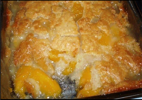 Fresh Peach Cobbler With Cake Mix Topping