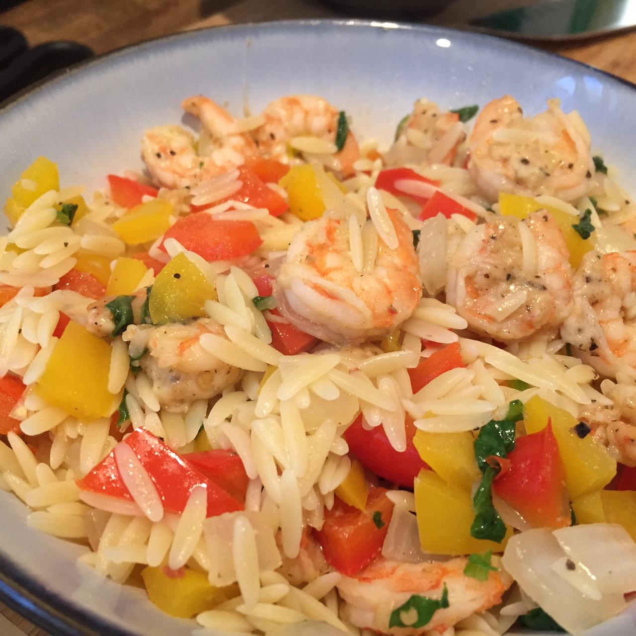 Garlic Shrimp Orzo Salad