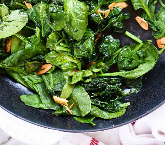 Super Healthy, Garlic Sauteed Spinach