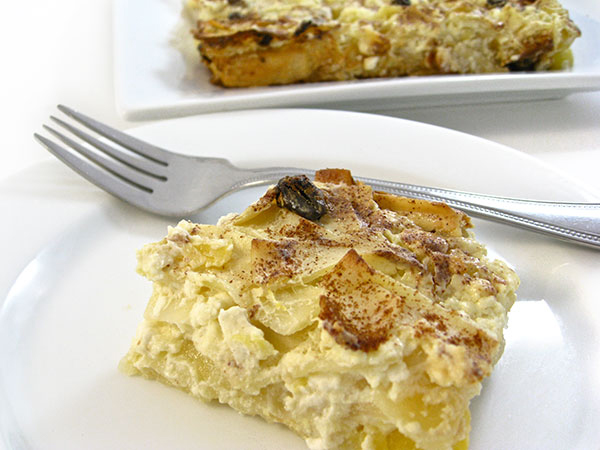 Super Yummy, Low Fat Noodle Pudding Casserole