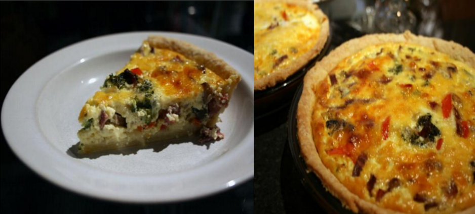 Easy Bacon and Mushroom Quiche