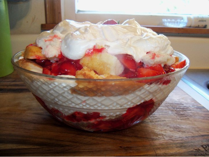 Strawberry Shortcake Punch Bowl Cake
