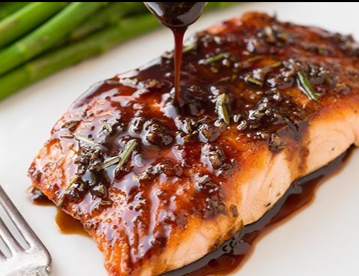 Amazing Balsamic Glazed Salmon