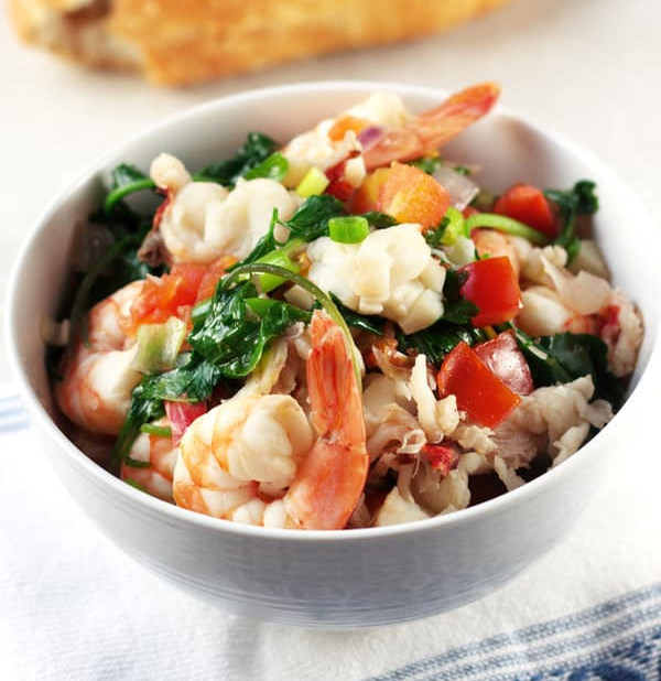 PAN-ROASTED SHRIMP AND LOBSTER STEW