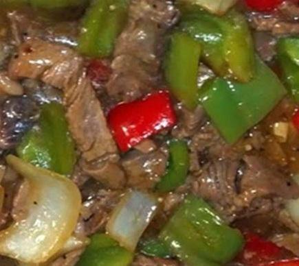Pepper Steak in Crockpot