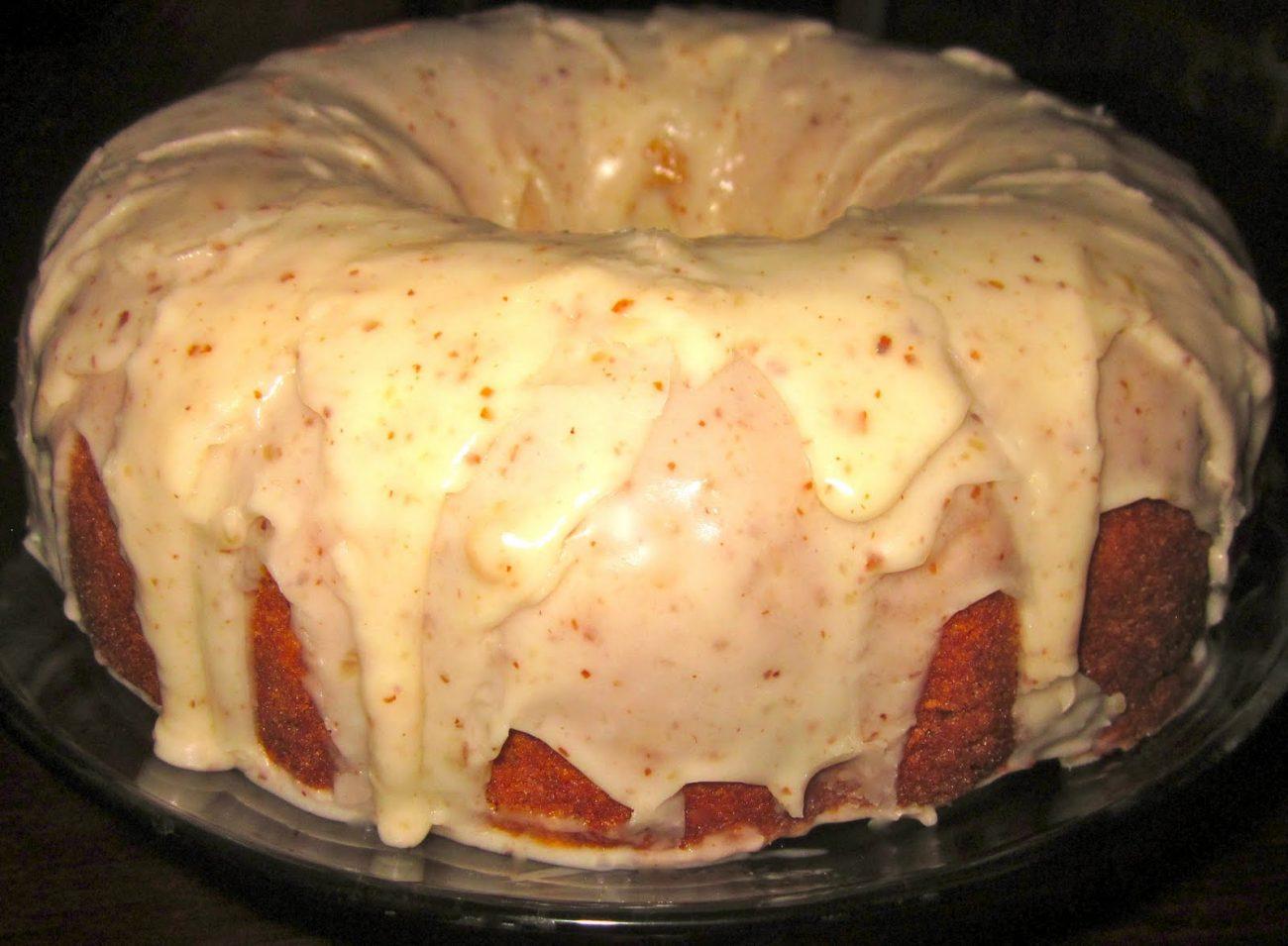 Almond Poundcake with Creamy Almond
