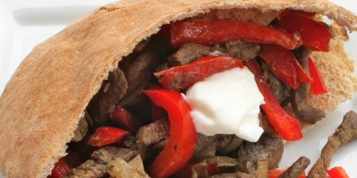 Mushroom and Steak Fajita Sandwiches