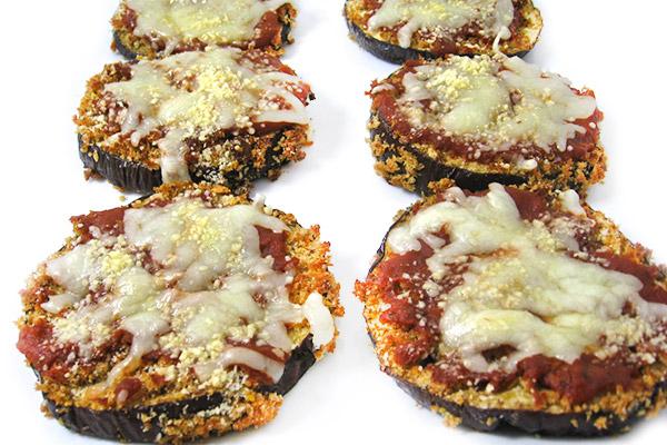 Skinny, Mini Eggplant Parmesan Pizzas