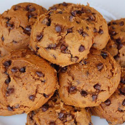 Skinny Pumpkin Chocolate Chip Cookies