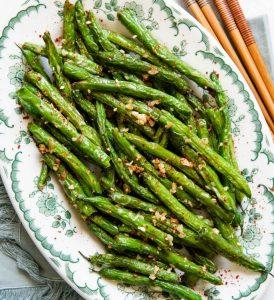 Skinny Garlic Green Beans