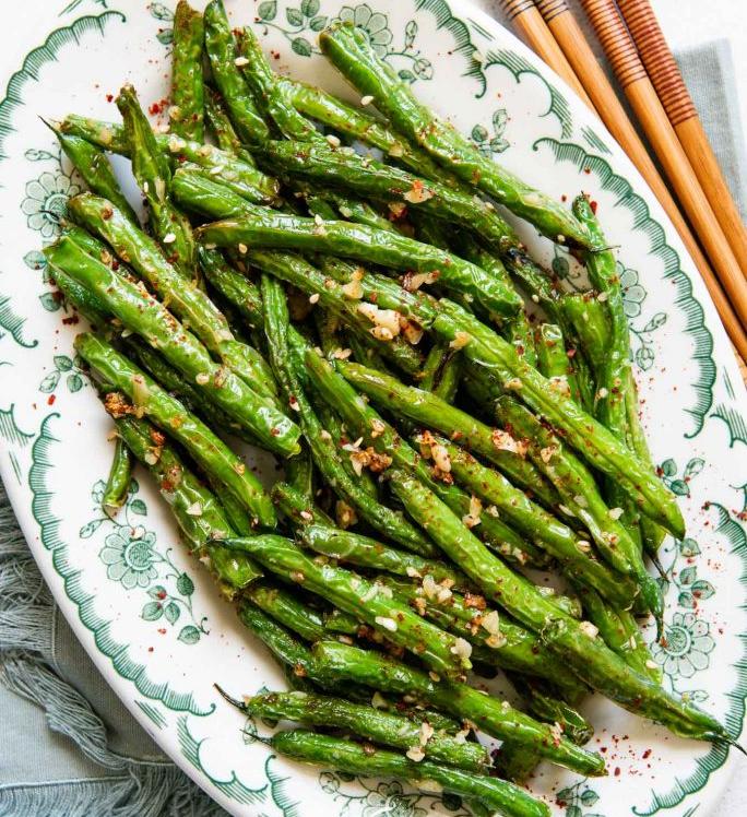 Skinny Garlic Green Beans – 1 Smartpoints