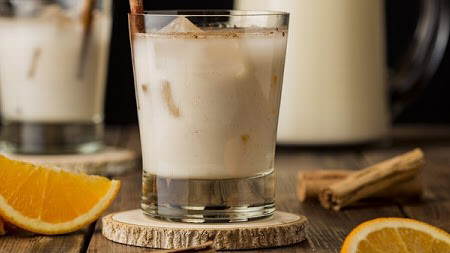 BROWN RICE HORCHATA WITH CINNAMON AND ORANGE