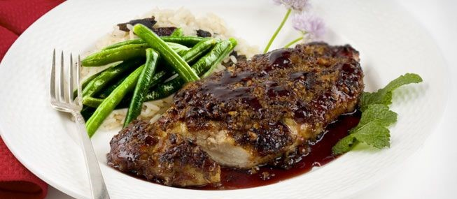 Raspberry-Balsamic Chicken with Shallots