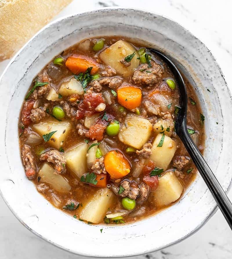 Slow Cooker Hamburger Stew Recipe