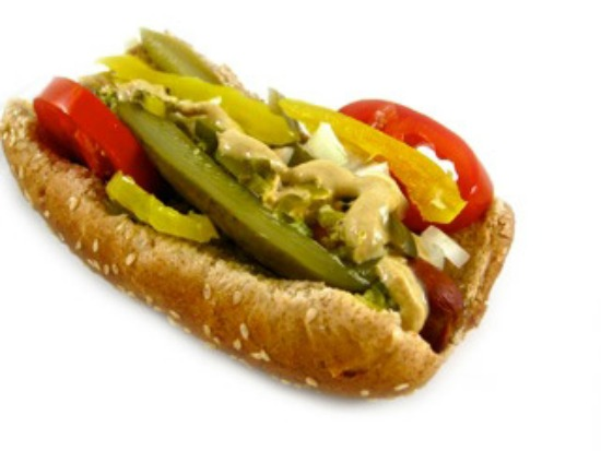 Chicago-Style Hot Dog Made Skinny