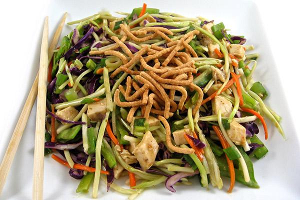Skinnylightful Asian Chicken Broccoli Slaw Salad