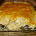 Sour Cream Chicken Enchilada Casserole