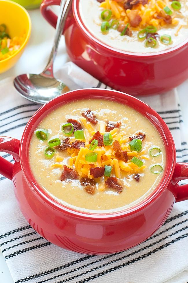 Slow Cooker Potato Cauliflower Soup Recipe