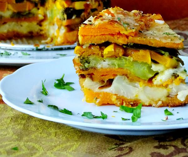 Spectacular Roasted Vegetable Torte